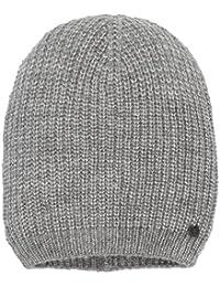 TOM TAILOR Denim Damen Strickmütze Basic Rib Beanie, Grau (Cement Grey Melange 2707), One size (Herstellergröße: OneSize)