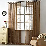 GUOCAIRONG® Solide Tüll Vorhänge für Schlafzimmer Tüll Fenster Vorhänge für Wohnzimmer Küche Modern Sheer Voile Blinds Drapes 1 Stück , 1.5*2.7m