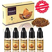 STARKIT E Liquid 5 x 10mL PG70% VG30%, Traditionelle Tabak Geschmack Nicotine Free Refill for E Cigarette Ecig Shisha Ejuice 0mg USA MIX | Tobacco | RY4 | Virginia Tobacco | Desert Ship Geschmack