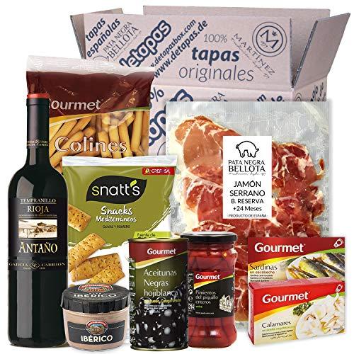 Präsentbox – Tapas-Abend für Zwei I Tapas para dos I Geschenk für Feinschmecker und Spanienfans | Spezialitäten aus…