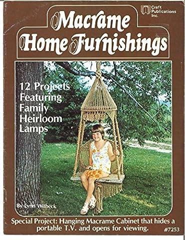 Macrame Home Furnishings: Vintage 1970's Macramé Patterns Tutorials Pot Hangers (Vintage Macrame Book