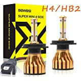 H4 HB2 9003 LED Headlight Bulb 200W 20000LM 6500K Cool White 4-sides LED Chips High Low Beam Fog Light Driving Car Headlamp P