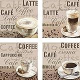Artland Leinwand-Bild fertig aufgespannt auf Holzfaserplatte mit Motiv Jule Milchkaffee, Latte Macchiato, Chocolate, Mocca Ernährung & Genuss Getränke Kaffee Malerei Creme A6PL
