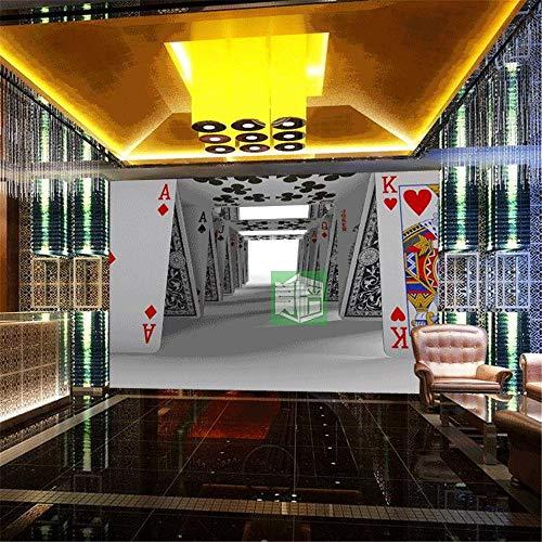 Tapeten Wandbild Aufkleberbenutzerdefinierte Poker Fototapete Großes Wandbild Schach Mahjong Casino Thema Tapete 3D Glücksspiel Lotterie Shop Dekoration Wandbild