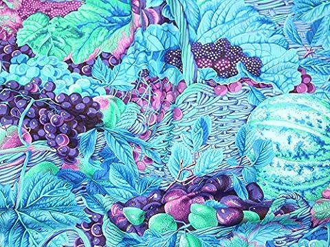 Rowan Philip Jacobs Fall 2014Markt Körbe Popeline Quilting Stoff blau–Meterware + Frei Minerva Crafts Craft Guide