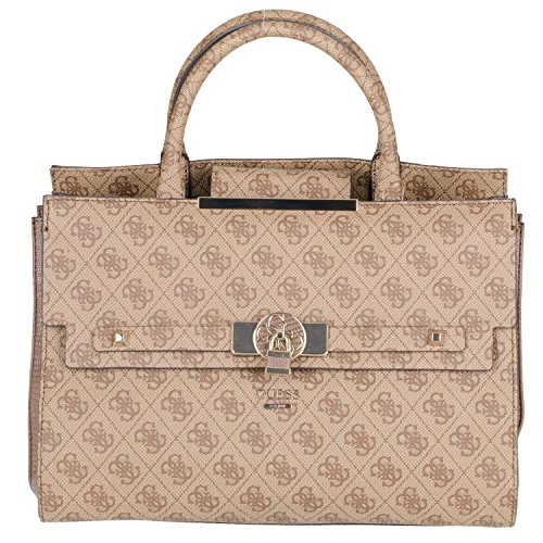 GUESS Cynthia Large Satchel Brown