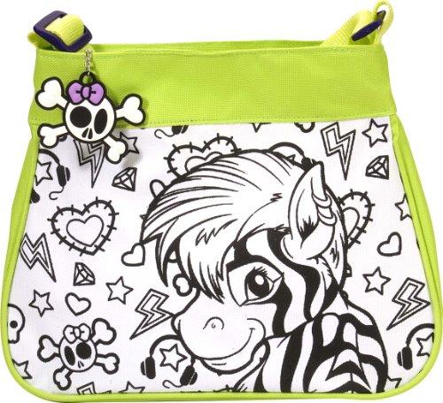 Wild Republic 10715 - Fashion Bag Grün Motiv Afrika zum selbst gestalten mit Schlüsselanhänger, 32 Teile - Tasche Handtasche Stecken