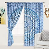 Jaipurcraft Multi-Colored Printed Designer Cotton Window 2 Pieces Curtain/ Long Curtain For Door (Size : 40*80 Inches)