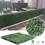 Siepe artificiale Boxwood Privacy Recinzione protezione per piante, pannelli, due tonalità di verde (50,8x 50,8cm Confezione da 6o 12), 100x100cm Pack of 6