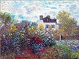 Posterlounge Leinwandbild 40 x 30 cm: Garten des Künstlers in Argenteuil von Claude Monet - fertiges Wandbild, Bild auf Keilrahmen, Fertigbild auf Echter Leinwand, Leinwanddruck
