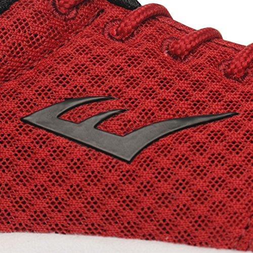 Everlast Kinder Sensei Run Turnschuhe Strick Sneaker Sportschuhe Schuhe Rot
