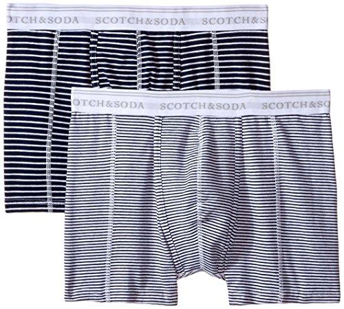 Scotch & Soda Herren Boxershorts 99019990099, 2er Pack, Mehrfarbig (dessin X), XX-Large