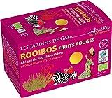 Bustine di Té al Rooibos e Frutti Rossi, Les Jardins de Gaia, Biologico e Fairtrade, 20 Bustine di Té, Confezione Interamente Biodegradabile