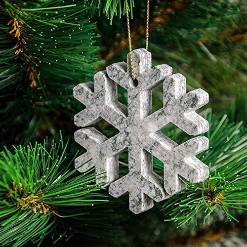 4 decorazioni natalizie originali in pietra di luserna per albero di natale o per la casa (angioletto, alberello, fiocco di neve, stellina)