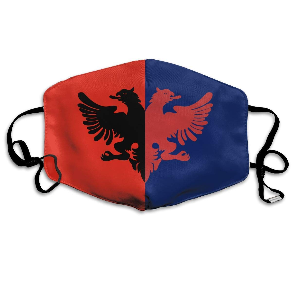 Daawqee Máscara de Boca, Unisex Flag of Albanian Reusable Face Mouth Cover Mask Windproof Mask Breathable 7 X 4.3 in