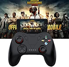 Leoie Wireless Bluetooth Gamepad Remote Game Controller Joystick for PUBG iOS Android Mobile Phone Without Bracket