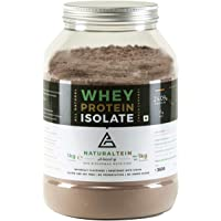 NATURALTEIN 100% Natural Whey Protein Isolate Choco-Caramel- 1 kg (Naturally flavored, Non GMO, No Artificial Sweeteners). Made in Germany.