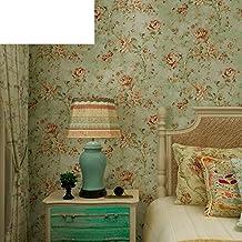 Americana flores del jardín acogedor dormitorio papel pintado/ pueblo vintage salón fondo de pantalla de TV-B