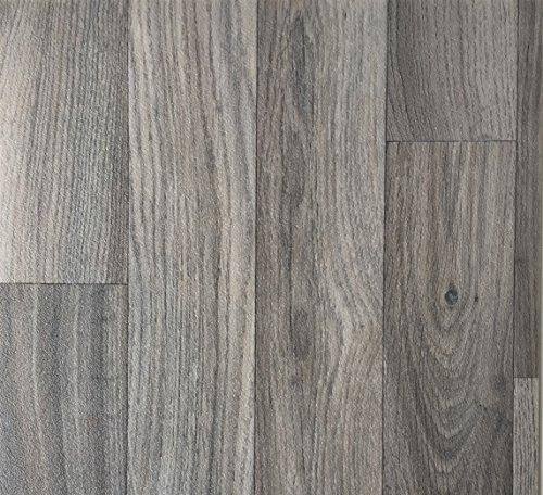 PVC Vinyl-Bodenbelag Schiffsboden-Optik Grau | Muster PVC-Belag | CV-Boden wird in benötigter Größe als Meterware geliefert | rutschhemmend - Grau-laminat