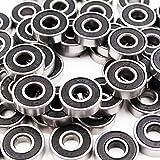 QUIOSS QUIOSS Kit Of 100 Pcs Steel Ball Bearing 608RS For Inline Skate Roller Blade Roller Hockey Inline Blade 608-2RS 8X22X7mm