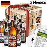Bierabo 3 Monate (3 Pakete mit je 9 verschiedenen Biersorten). Entdecke monatlich 1 Bierpaket mit 9 Bierflaschen unterschiedlicher Brauereien und Regionen - ein leckeres Biergeschenk. inkl. Pfand! Mit Bier aus: Hessen + Niederbayern + Rhön + Oberbayern + Franken + Thüringen + Schwarzwald + Sachsen + NRW + Erzgebirge + Saarland + Brandenburg. Bier Geschenke. …