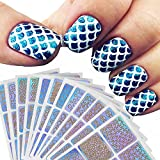 #8: 12 Sheets New Nail Hollow Irregular Grid Stencil Reusable Manicure Stickers