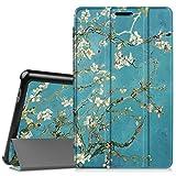 Fintie Huawei Mediapad T3 8 Hülle Case - Ultra Dünn Superleicht SlimShell Ständer Cover Schutzhülle Tasche mit Zwei Einstellbarem Standfunktion für Huawei T3 20,3 cm (8,0 Zoll), Mandelblüten