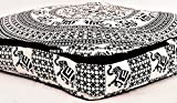 Indian Daybed Big Seating Elephant Mandala Floor Pillow Cover Pouf Cushion Case Bohemian Ottoman Meditation Throw Large 35""