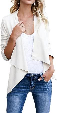 Simple-Fashion Primavera e Autunno Donne Cappotto Elegante Moda Pelle Scamosciata Finta Outerwear Giacca Irregolare Cardigan Cime Casual Manica Lunga Coat Giacche Tops