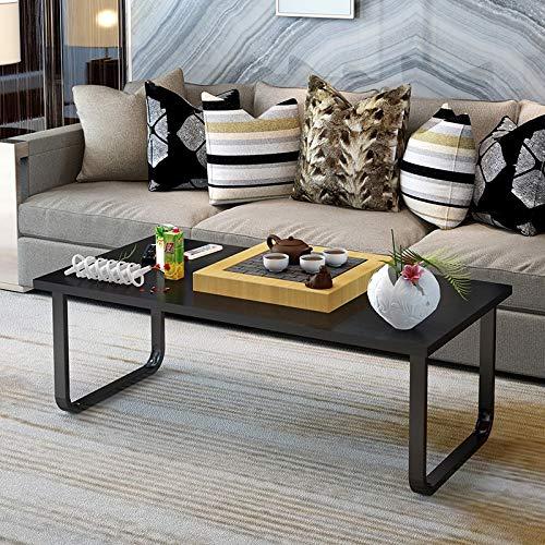 ANDIAOG-Home Couchtisch, niedriger Tisch, einfacher moderner Couchtisch, Kleiner Tisch, kreativer Couchtisch, kleine Wohnung, Wohnzimmer (Color : C, Size : 120 * 60CM) - Schwarz Moderner Couchtisch