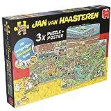 Jumbo 19006 - Jan van Haasteren - 3 in 1 Fußball-Special Puzzle, 500/750/1000 Teile