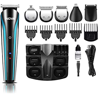 NOVA NG 1152 Cordless Rechargeable: 60 Minutes Runtime Multi Grooming Trimmer for Men  Black