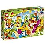 LEGO DuploTown IlGrandeLunaPark, Giocattolo con Treno e Scivoli, 10840 LEGO