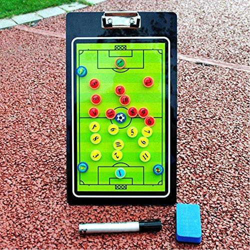 Fußball Trainertafel magnetisch Taktik hochwertigem PVC Coach Tactic Graphic Teaching Magnete & Stift Tragbar Fußball Strategie Trainer Kit