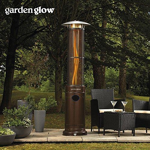 Garden Glow 15000W Circle Flame Gas Garden Patio Heater With Variable Power  Control For Outdoor Use ...