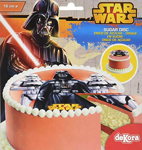 Star Wars Disque en Sucre 16 cm Star Wars sans Gluten sans Colorants Azoïques 15 g
