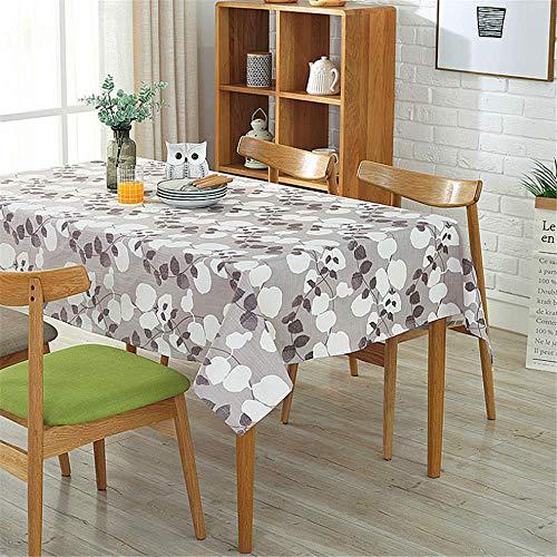 umwolle Leinen Tischdecke Rechteckig Multifunktionale Tischdecke Für Outdoor Home C 140 × 200 cm ()