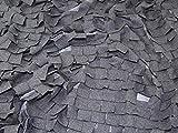 3D Rüschen Chiffon Kleid Stoff grau, Pro Meter