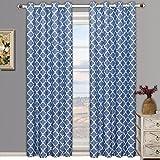 Meridian azul ojal apagón cortina de ventana de cortinas, par/Set de 2paneles, 52x 96cm cada uno, por Royal Hotel