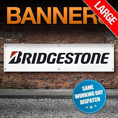 Pneumatici bridgestone logo banner (za058), large - 2400mm x 615mm
