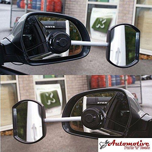 Streetwize, Zusatzspiegel / Wohnwagenspiegel, Saugnapf, konvex und flach, Doppelpack