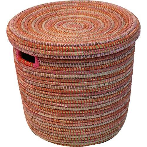EA Déco Naturel & Design PLG2TFUS Salandere PM Panier Plastique/Paille Tricolore Fushia 40 x 40 x 40 cm