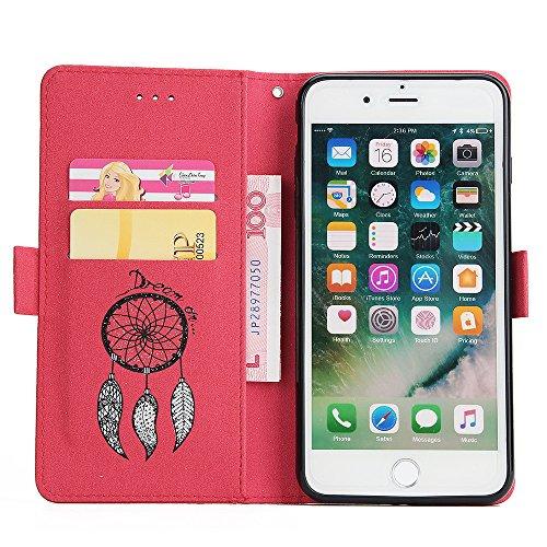 Coque iPhone 7,Coque iPhone 7 Plus, Coque iPhone 6/6S, Coque iPhone 6Plus/6S Plus, Coque iPhone 5/5S/SE, [Porte-cartes] étui Protection en Cuir Portefeuille multi-Usage Housse Rabattable(LXT-06) F