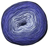 Woolly Hugs Bobbel Cotton, Blau (Farbe 24 Mare), 200 g, Ca 800 m