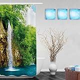 """Natural Paisaje Decoración del hogar estaciones watepfall piedra baño cortinas de ducha impermeable moho ployster tela 60""""x72)"""