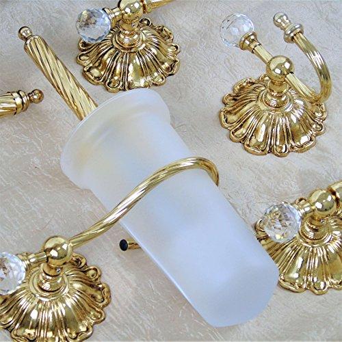 Accessori Dorati Per Bagno.Set Bagno Kit Accessori Italiani Oro Barocco Dorati