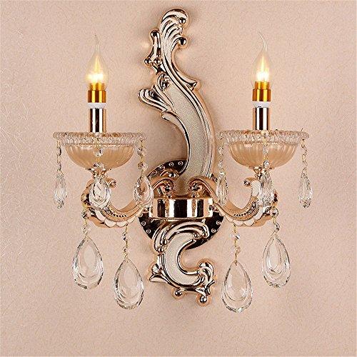 Anbiratlesn Modern Wandleuchten E27 Antik Wandlampe Vintage Rustikal Wandlampe für Schlafzimmer Wohnzimmer Bar Flur Badezimmer Küche Balkon Innen Lampe Kerze Kristall Lampe Nachttischlampe Wandleuchte