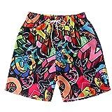 Amlaiworld Uomo Costume da Bagno Quick Dry Pantaloncini da Spiaggia Stampato Swim Calzoncini da Bagno Hawaiana Pantaloncini da Spiaggia