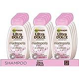 Garnier Multi Pack Shampoo Ultra Dolce, Shampoo per Capelli Spenti, Madreperla e Ciliegio, 300 ml, Confezione da 12