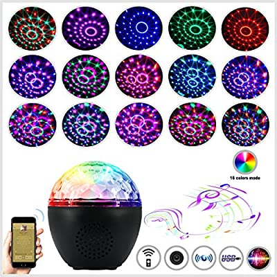 Anpro Disco Lights, Sound Activated Party Lamp with Bluetooth Speaker and 4M USB Cable, Remote Control Party Lights for Kids Birthday, Christmas Day, Home Party, Bedroom Decoration